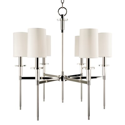 Amherst 6-Light Shaded Chandelier Color: Polished Nickel