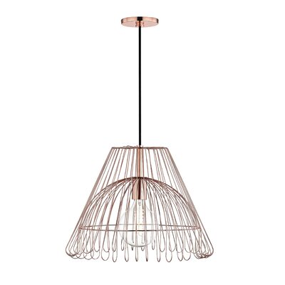 Glaucus 1-Light Geometric Pendant Finish: Polished Copper, Size: 13 H x 18 W x 18 D