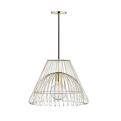 Glaucus 1-Light Geometric Pendant Finish: Polished Brass, Size: 13 H x 18 W x 18 D