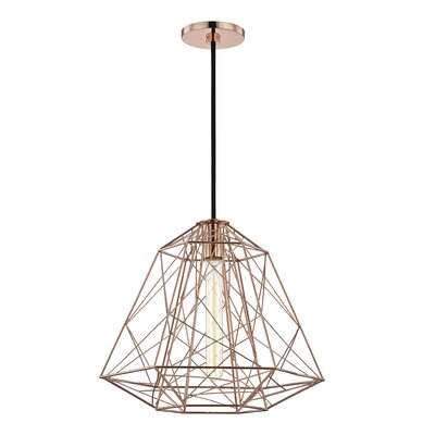 Gaynor 1-Light Geometric Pendant Finish: Polished Copper