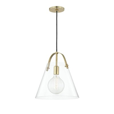 Gingasen 1-Light Mini Pendant Finish: Aged Brass, Size: 13.75 H x 12.75 W x 12.75 D