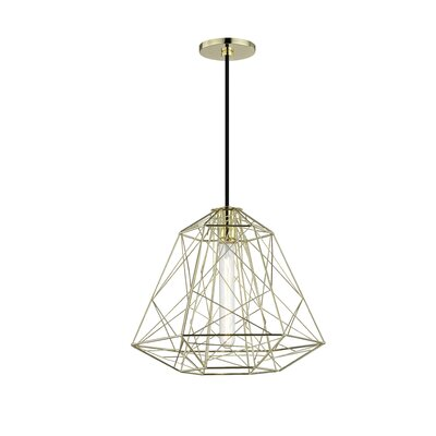 Gaynor 1-Light Geometric Pendant Finish: Polished Brass