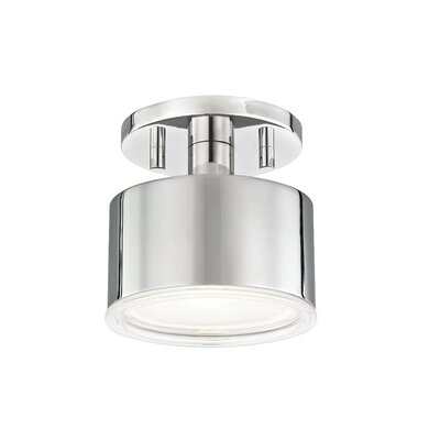 Yussuf Semi Flush Mount Fixture Finish: Polished Nickel