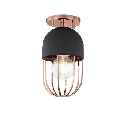 Galien 1-Light Semi Flush Mount Fixture Finish: Polished Copper