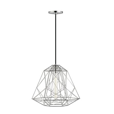 Gaynor 1-Light Geometric Pendant Finish: Polished Nickel