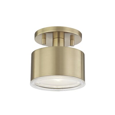 Yussuf Semi Flush Mount Fixture Finish: Aged Brass