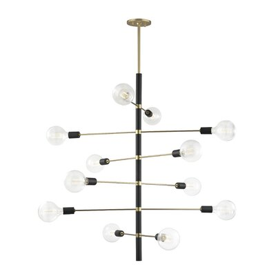 Gemini 12-Light Sputnik Chandelier Finish: Aged Brass