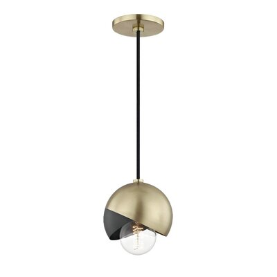 Drucker 1-Light Mini Pendant Finish: Aged Brass