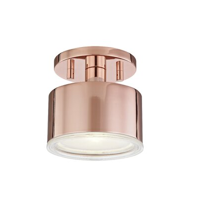 Yussuf Semi Flush Mount Fixture Finish: Polished Copper