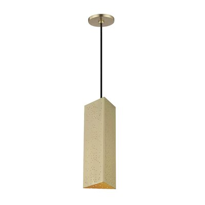 Garrett 1-Light Geometric Pendant Finish: Aged Brass