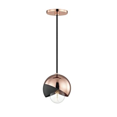 Drucker 1-Light Mini Pendant Finish: Polished Copper