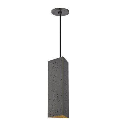 Garrett 1-Light Geometric Pendant Finish: Old Bronze