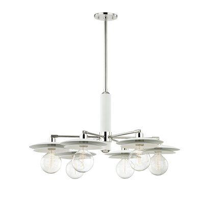 Grady 6-Light Sputnik Chandelier Finish: Polished Nickel