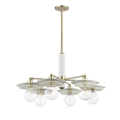 Grady 6-Light Chandelier Finish: Aged Brass