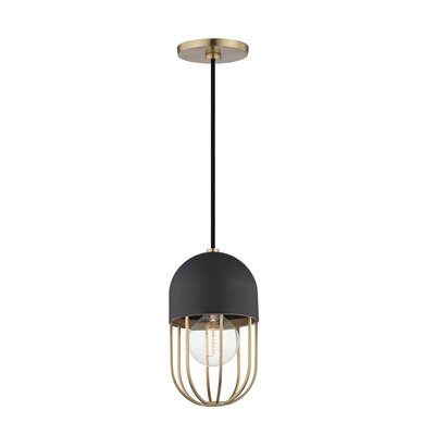 Galien 1-Light Mini Pendant Finish: Aged Brass