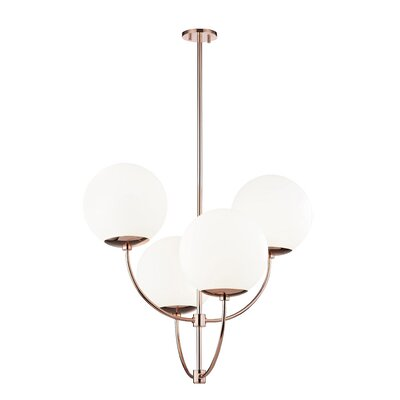 Osvaldo 4-Light Chandelier Finish: Polished Copper