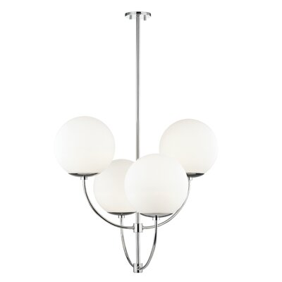 Osvaldo 4-Light Chandelier Finish: Polished Nickel