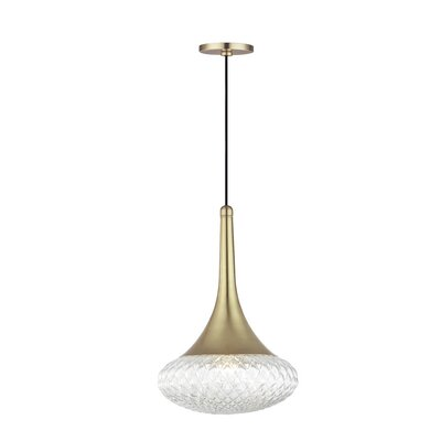 Jeramy 1-Light Mini Pendant Finish: Aged Brass