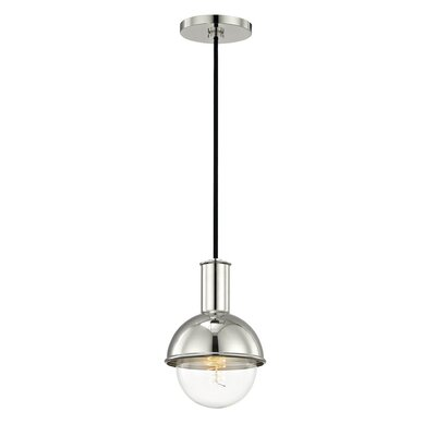 Altamirano 1-Light 60W Inverted Pendant Finish: Polished Nickel