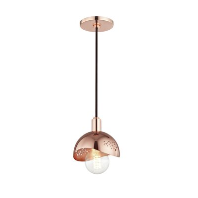 Galina 1-Light Mini Pendant Finish: Polished Copper