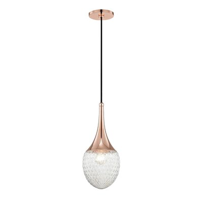 Jeramy 1-Light 60W Mini Pendant Finish: Polished Copper