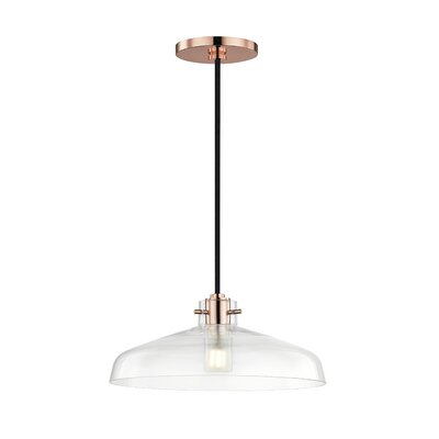 Shrutika 1-Light Inverted Pendant Finish: Polished Copper
