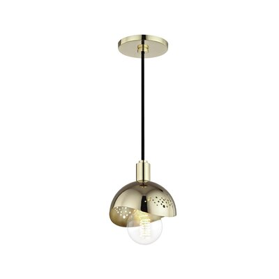 Galina 1-Light Mini Pendant Finish: Polished Brass