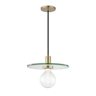 Rocco 1-Light Mini Pendant Finish: Aged Brass, Size: 4 H x 7.5 W x 7.5 D