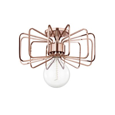 Cornell 1-Light 60W Mini Pendant Finish: Polished Copper