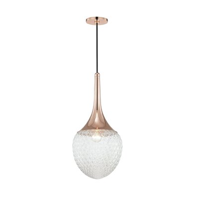 Jeramy Incandescent 1-Light Mini Pendant Finish: Polished Copper
