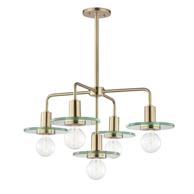 Rocco 5-Light Chandelier Finish: Aged Brass