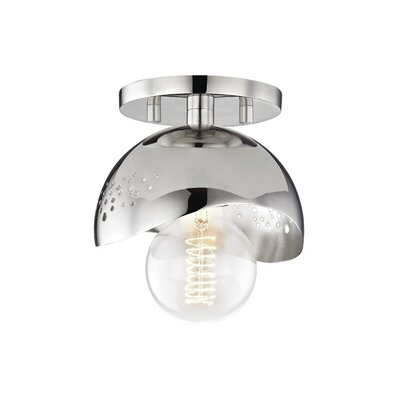 Galina 1-Light Semi Flush Mount Fixture Finish: Polished Nickel