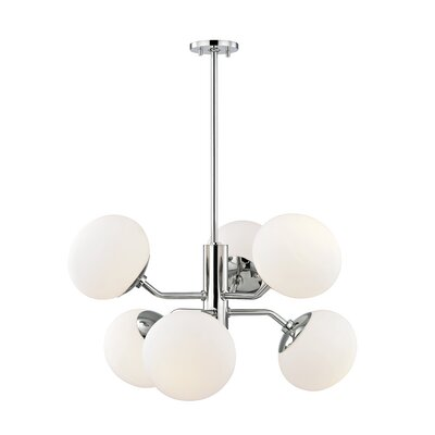 Gideon 6-Light Chandelier Finish: Polished Nickel