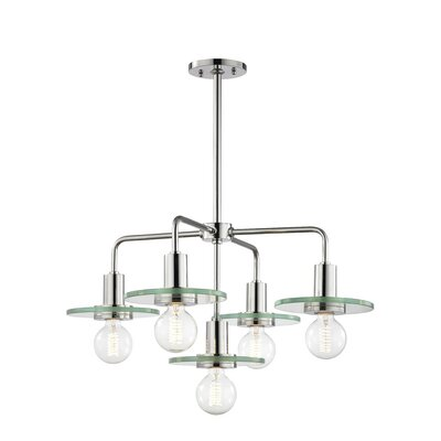Rocco 5-Light Chandelier Finish: Polished Nickel