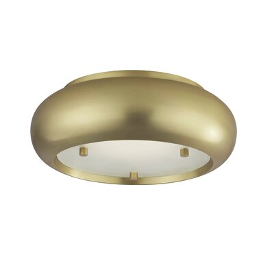 Glen Ellyn Flush Mount Shade Color: Aged Brass