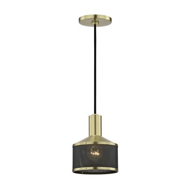 Ducote 1-Light Mini Pendant Finish: Aged Brass