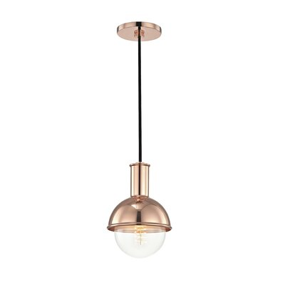 Jaxon 1-Light 60W Inverted Pendant Finish: Polished Copper