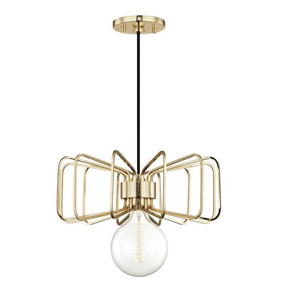 Cornell 1-Light 60W Mini Pendant Finish: Polished Brass