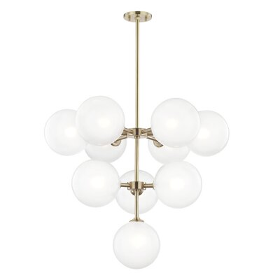 Jaron 10-Light Sputnik Chandelier Finish: Aged Brass