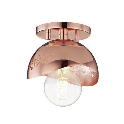 Galina 1-Light Semi Flush Mount Fixture Finish: Polished Copper