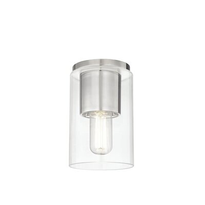 Cyrus 1-Light Semi Flush Mount Fixture Finish: Polished Nickel