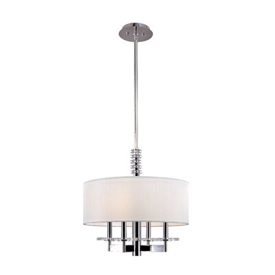 Patricia 4-Light Drum Pendant Finish: Old Bronze