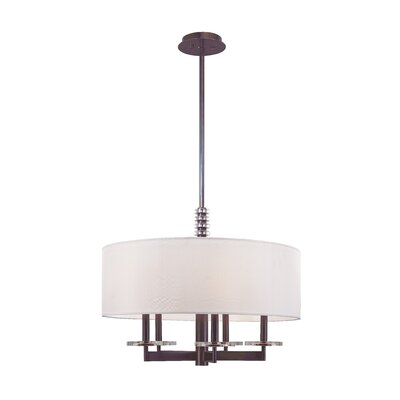Patricia 5-Light Drum Pendant Finish: Polished Nickel