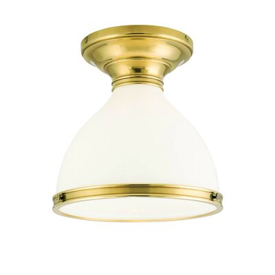 Ekstrom 1-Light Semi Flush Mount Finish: Aged Brass