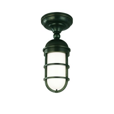 Caozinha 1-Light Semi-Flush Mount Finish: Old Bronze