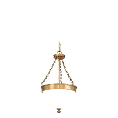 Eleanor 3-Light Pendant Finish: Aged Brass, Size: 17