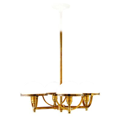 Letson 4-Light Shaded Chandelier Finish: Aged Brass