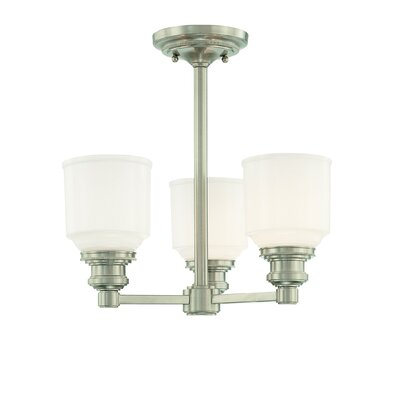 Windham 3-Light Pendant Finish: Satin Nickel