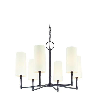 Katya 6-Light Shaded Chandelier Finish: Old Bronze