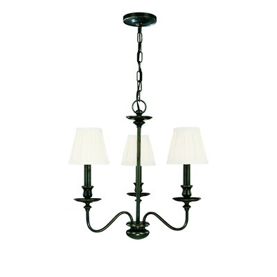 Menlo Park 3-Light Shaded Chandelier Finish: Old Bronze